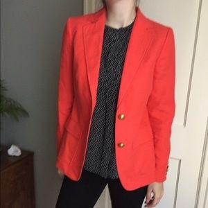 JCREW Blazer Jacket Orange Size 2